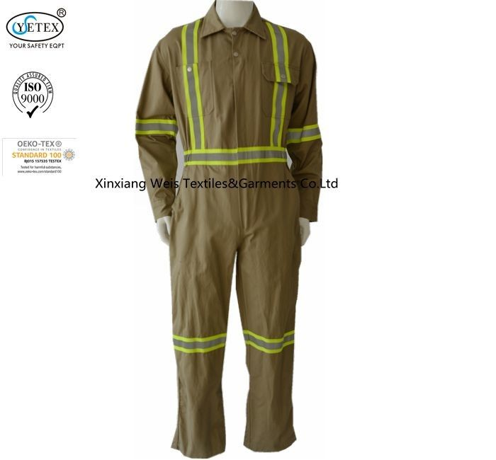 Green High Visibility Fr Reflective Coveralls Anti Arc Flash En11612