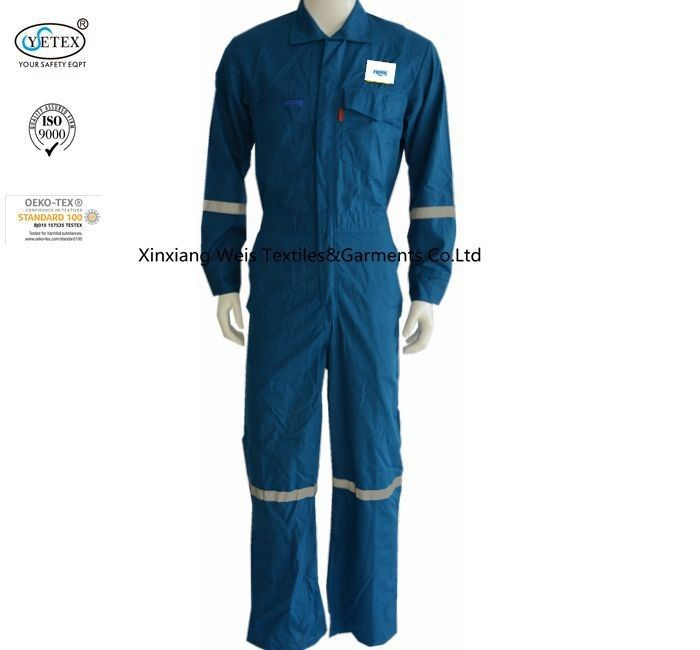 Inherent Protective Nomex Flame Retardant Jumpsuit With Reflective Stripes